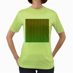 Hald Simulate Tritanope Color Vision With Color Lookup Tables Women s Green T Shirt