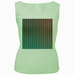 Hald Simulate Tritanope Color Vision With Color Lookup Tables Women s Green Tank Top