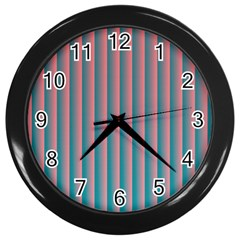 Hald Simulate Tritanope Color Vision With Color Lookup Tables Wall Clocks (Black)