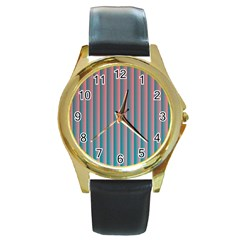 Hald Simulate Tritanope Color Vision With Color Lookup Tables Round Gold Metal Watch