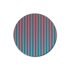 Hald Simulate Tritanope Color Vision With Color Lookup Tables Rubber Round Coaster (4 pack)