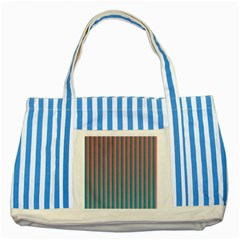 Hald Simulate Tritanope Color Vision With Color Lookup Tables Striped Blue Tote Bag
