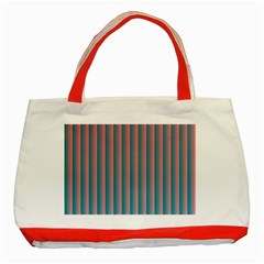 Hald Simulate Tritanope Color Vision With Color Lookup Tables Classic Tote Bag (Red)