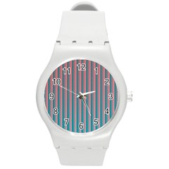 Hald Simulate Tritanope Color Vision With Color Lookup Tables Round Plastic Sport Watch (M)