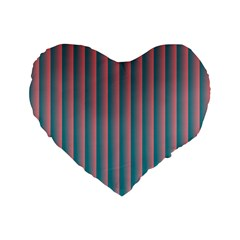 Hald Simulate Tritanope Color Vision With Color Lookup Tables Standard 16  Premium Flano Heart Shape Cushions