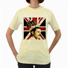 Freddie Mercury Women s Yellow T-Shirt