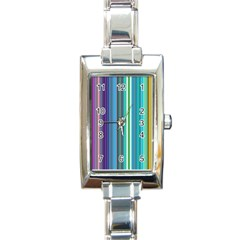 Color Stripes Rectangle Italian Charm Watch
