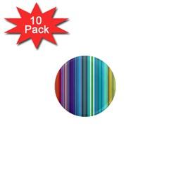 Color Stripes 1  Mini Magnet (10 pack)
