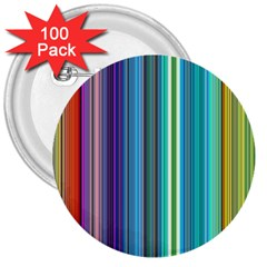 Color Stripes 3  Buttons (100 Pack)
