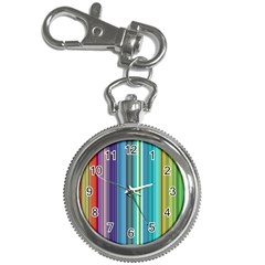 Color Stripes Key Chain Watches