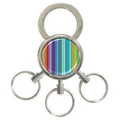 Color Stripes 3-Ring Key Chains