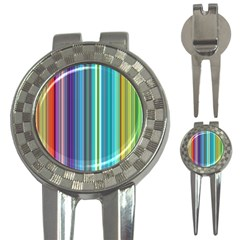 Color Stripes 3-in-1 Golf Divots