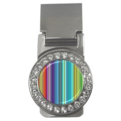 Color Stripes Money Clips (cz)