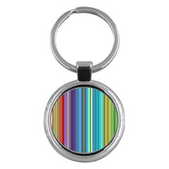 Color Stripes Key Chains (Round)