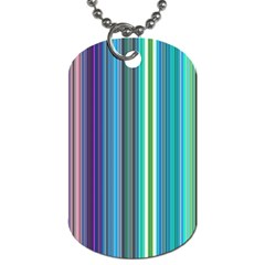 Color Stripes Dog Tag (two Sides)