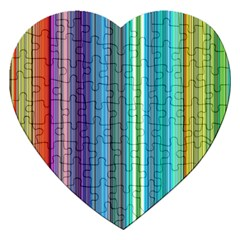 Color Stripes Jigsaw Puzzle (heart)