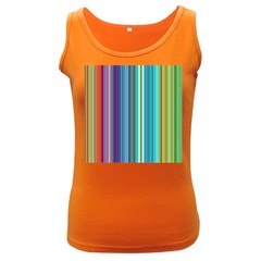 Color Stripes Women s Dark Tank Top
