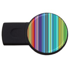 Color Stripes Usb Flash Drive Round (4 Gb)