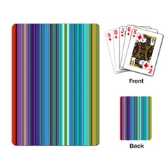 Color Stripes Playing Card