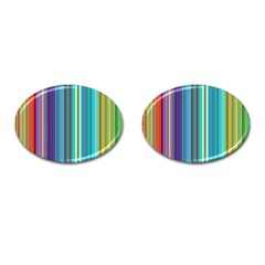 Color Stripes Cufflinks (oval)