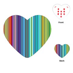 Color Stripes Playing Cards (heart)