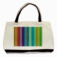 Color Stripes Basic Tote Bag