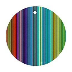 Color Stripes Round Ornament (Two Sides)
