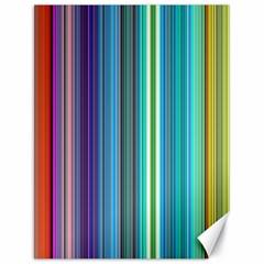 Color Stripes Canvas 18  x 24