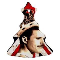 Freddie Mercury Christmas Tree Ornament (Two Sides)