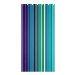 Color Stripes Shower Curtain 36  X 72  (stall)