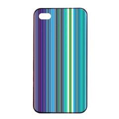 Color Stripes Apple Iphone 4/4s Seamless Case (black)