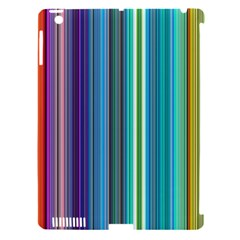 Color Stripes Apple iPad 3/4 Hardshell Case (Compatible with Smart Cover)
