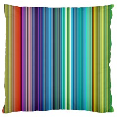 Color Stripes Large Cushion Case (Two Sides)