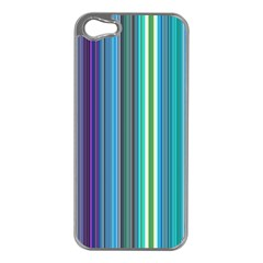 Color Stripes Apple iPhone 5 Case (Silver)