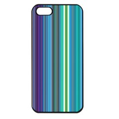 Color Stripes Apple iPhone 5 Seamless Case (Black)