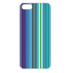 Color Stripes Apple iPhone 5 Seamless Case (White)