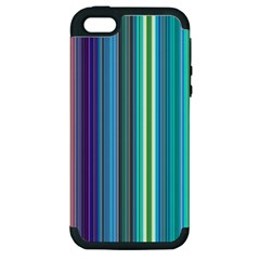 Color Stripes Apple iPhone 5 Hardshell Case (PC+Silicone)