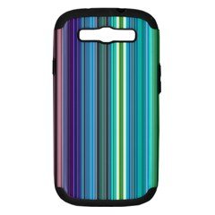 Color Stripes Samsung Galaxy S III Hardshell Case (PC+Silicone)
