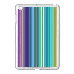 Color Stripes Apple iPad Mini Case (White)