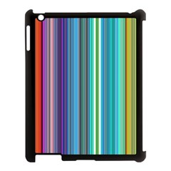 Color Stripes Apple Ipad 3/4 Case (black)