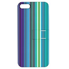 Color Stripes Apple iPhone 5 Hardshell Case with Stand