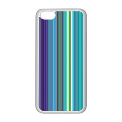 Color Stripes Apple iPhone 5C Seamless Case (White)