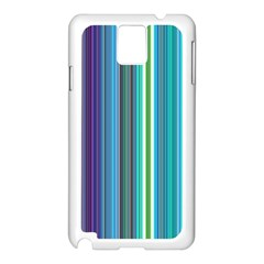Color Stripes Samsung Galaxy Note 3 N9005 Case (white)