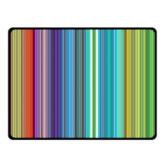 Color Stripes Double Sided Fleece Blanket (Small)