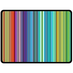 Color Stripes Double Sided Fleece Blanket (large)