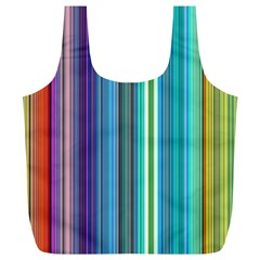 Color Stripes Full Print Recycle Bags (L)