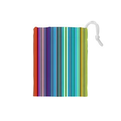 Color Stripes Drawstring Pouches (Small)