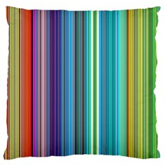 Color Stripes Standard Flano Cushion Case (One Side)