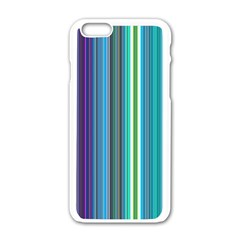 Color Stripes Apple Iphone 6/6s White Enamel Case