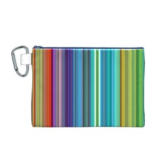 Color Stripes Canvas Cosmetic Bag (M)